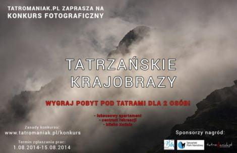 """Rusza konkurs fotograficzny """"Tatrzańskie krajobrazy"""""""