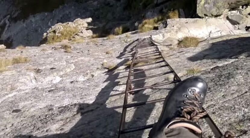 Widok z drabinki na Koziej Przełęczy (FILM)