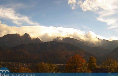 Wał chmur nad Tatrami – pierwszy tej jesieni halny