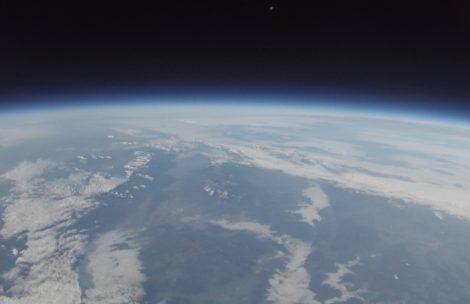 Tatry widziane ze stratosfery (zdjęcia)