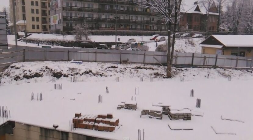 Ranna sarna uwięziona na placu budowy w Zakopanem