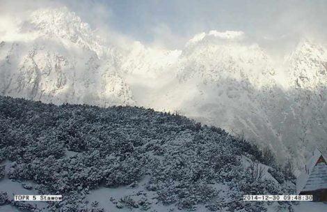 Tęgie mrozy w Tatrach