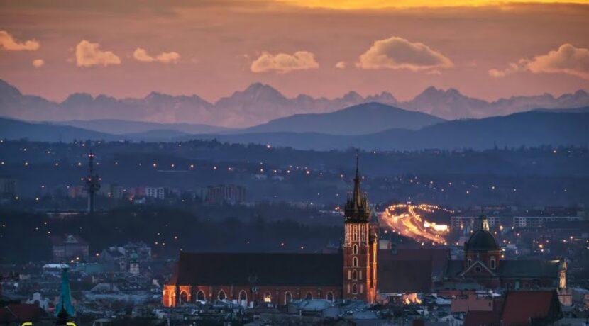 Dzisiejszy widok na Tatry z Krakowa