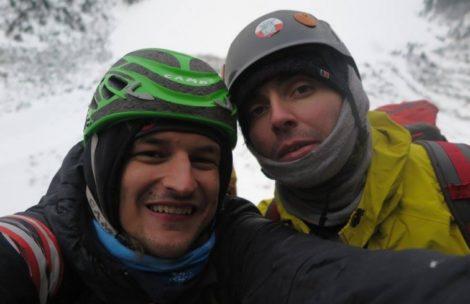 Adam Bielecki i Kacper Tekieli wspinają się w Tatrach