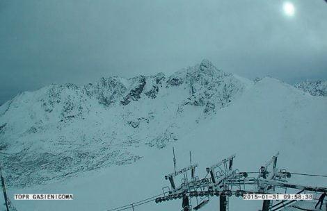 Atak zimy w Tatrach, na Kasprowym ponad metr śniegu