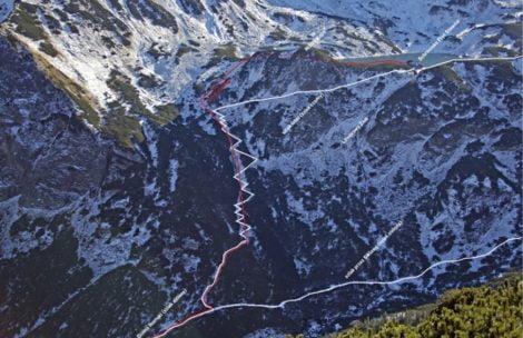 Zimowy wariant szlaku do Doliny Pięciu Stawów Polskich (GRAFIKA)