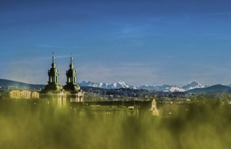 Piękne widoki na Tatry z Krakowa (9.04.2015) – galeria zdjęć