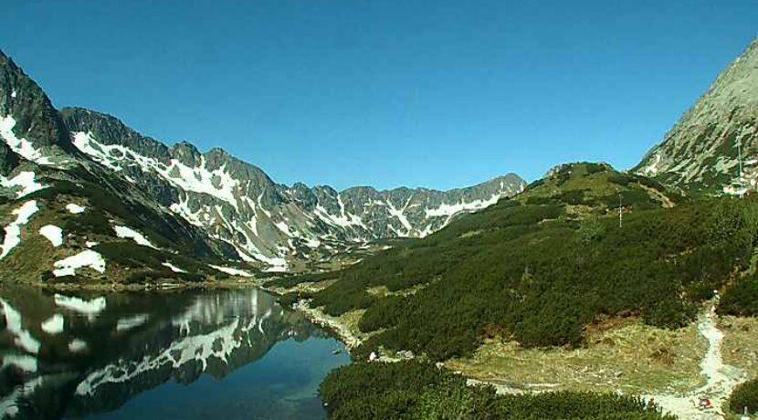 Przepiękna pogoda w Tatrach, góry skąpane w słońcu