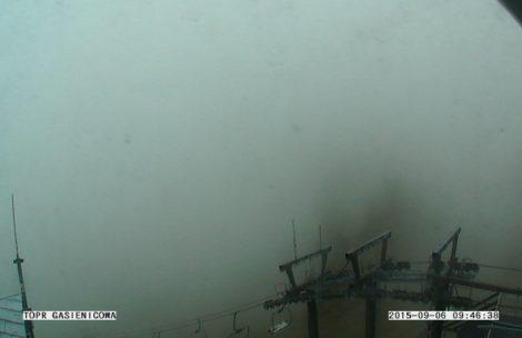 Opady śniegu i przymrozki w Tatrach