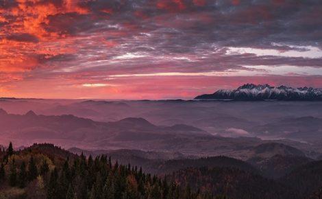 Tatry o wschodzie słońca z oddali – niesamowite warunki zdjęciowe