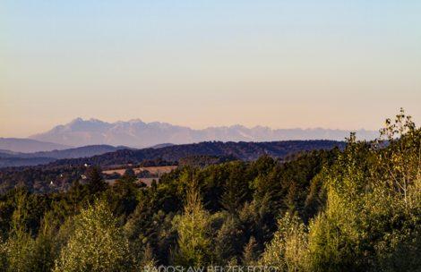 Piękne widoki na Tatry dziś rano. Odległość ponad 100 km