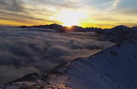 Dzisiejszy zachód słońca na Kasprowym Wierchu – świeży film!
