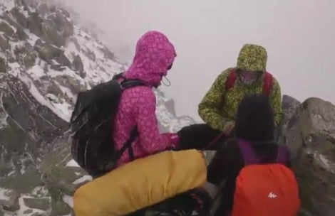 Mniej przyjazna strona gór. Zawierucha na Orlej Perci (FILMY)