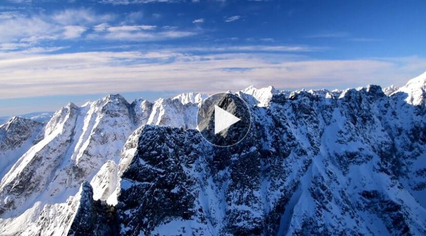 Przelot nad Tatrami – piękne nagranie ze śmigłowca TOPR