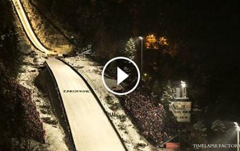 Puchar Świata w skokach w Zakopanem – zobacz świetne wideo
