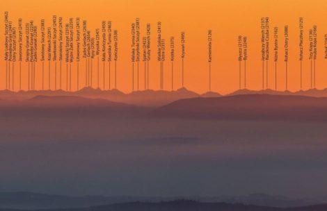 Widok na Tatry z Pradziada (235 km!) – opisana panorama