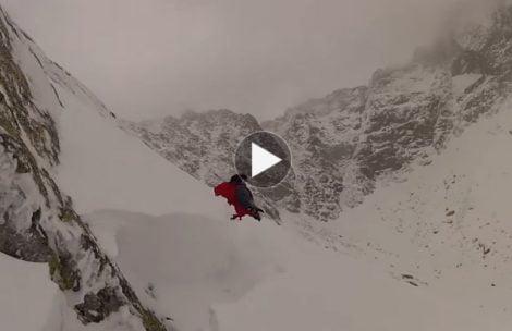 Zimowe wejście na Zadni Granat + lawina (FILM)