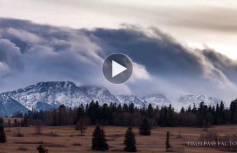 Genialny timelapse z ostatnim halnym nad Tatrami (FILM)
