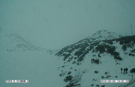 W Tatrach sypie śnieg, może rosnąć zagrożenie lawinowe