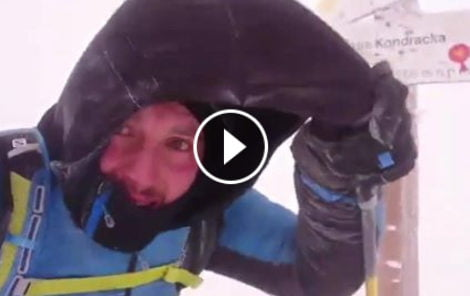 Halny w Tatrach, wieje ponad 120 km/h. Film z Kopy Kondrackiej