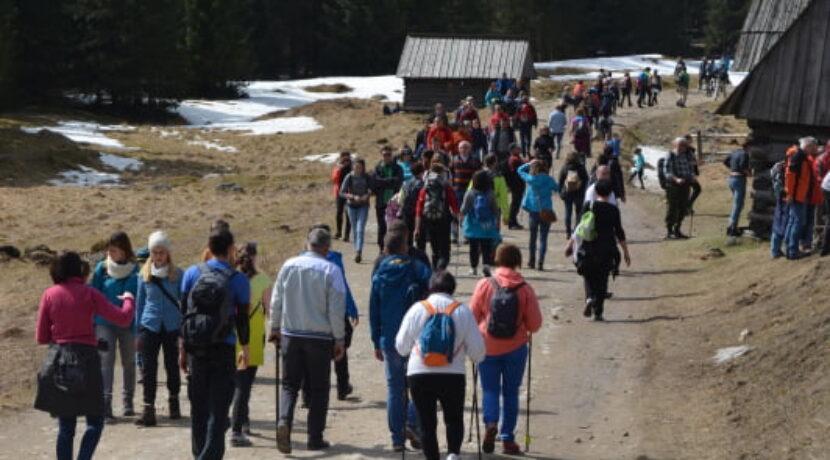 Rekordowa niedziela w Dolinie Chochołowskiej. Ponad 25 tys. turystów!