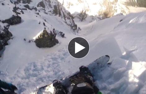 Na nartach i desce z Rysów – zobaczcie niesamowity freeride (FILM)
