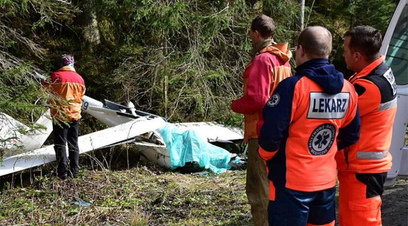 Wypadek szybowca na Łysej Polanie. Pilot nie żyje