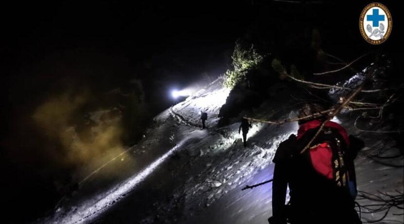 Turyści zabłądzili nocą w Tatrach. Akcje ratowników TOPR (ZDJĘCIA)