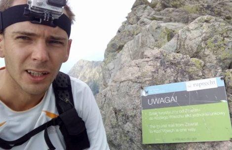 Cała Orla Perć w 1 godzinę 16 minut! Niezwykły wynik Piotra Łobodzińskiego