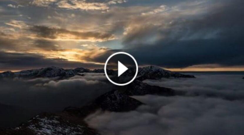 Zachód słońca w Tatrach, 27.10.2016 (FILM)