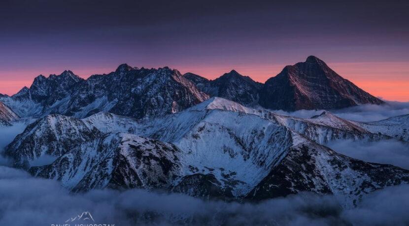 Piękna panorama Tatr o zmroku – zobacz w powiększeniu [ZDJĘCIE]