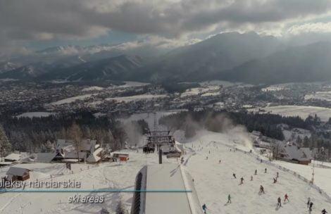 Piękne Tatry i Podhale w zimowej scenerii (FILM)