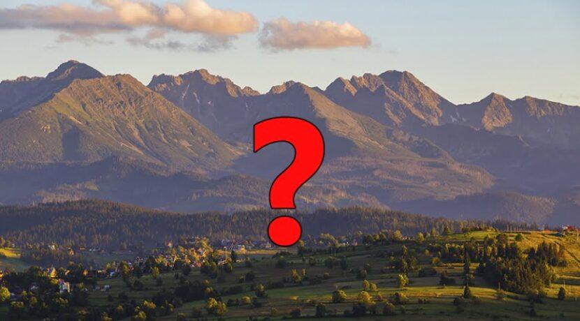 Tatry w pytaniach i odpowiedziach – część 1