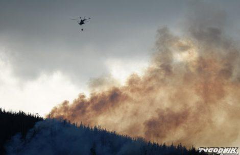 Wielki pożar lasu w Tatrach. Ewakuacja turystów