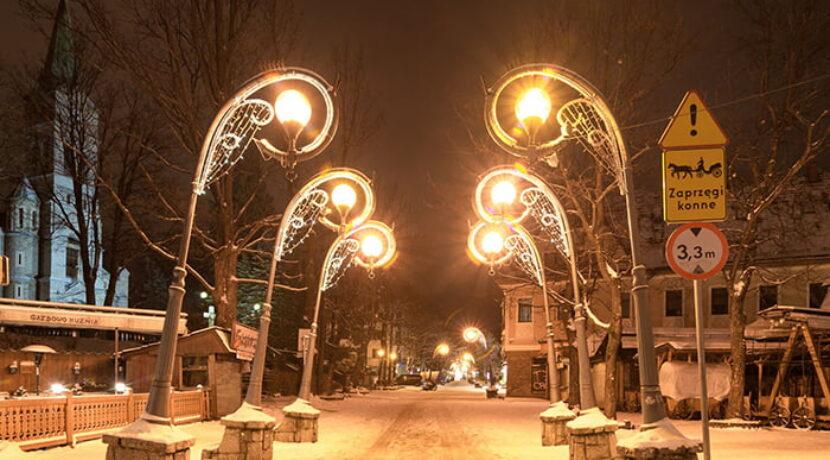 Zimowy klimat w Zakopanem. Tak wyglądało dzisiejszej nocy (ZDJĘCIA)