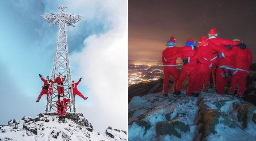 Oto najbardziej zwariowani Mikołajowie w Polsce. Co roku odwiedzają szczyty Tatr (ZDJĘCIA)