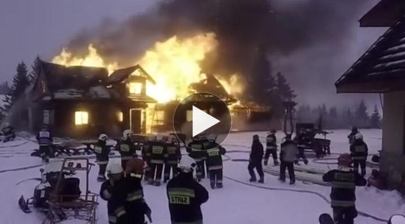 Pożar przy schronisku na Hali Miziowej! Trudna akcja gaśnicza (WIDEO)