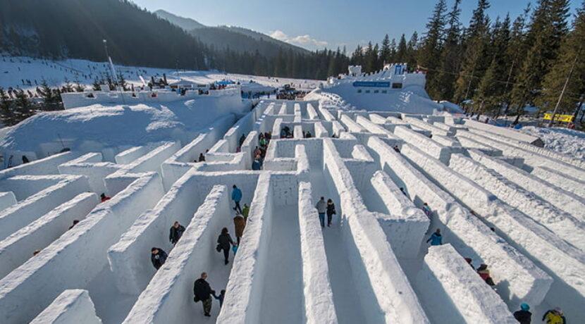 Śnieżny labirynt w Zakopanem już otwarty! To największa taka budowla na świecie (ZDJĘCIA, FILM)