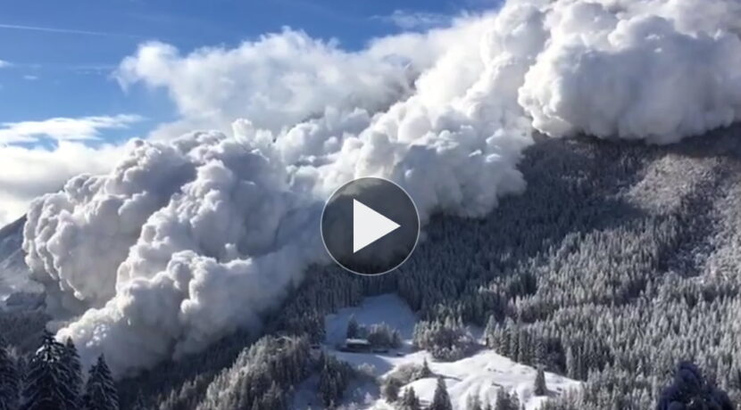 Olbrzymia lawina w Alpach! Ten film robi wrażenie (WIDEO)