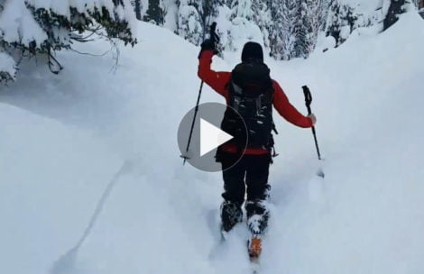 """Spacer przez bajkowy las, nagle…Oto jak """"stabilny"""" jest teraz śnieg w Tatrach (FILM)"""