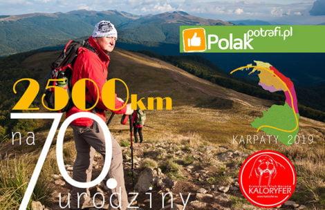 Ma 70 lat i zamierza…przejść 2500 km przez całe Karpaty!