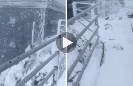Atak zimy w Tatrach. Choć trudno w to uwierzyć, to nagranie z dziś (FILM)