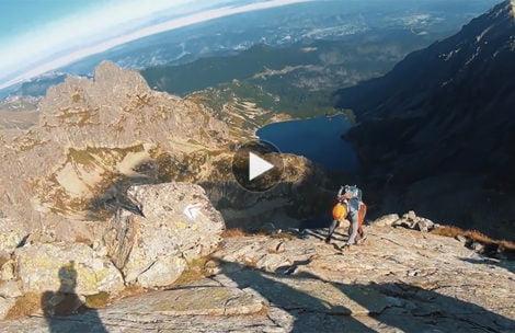 Jesienne przejście Orlej Perci – nagranie z podpisanymi miejscami (FILM)