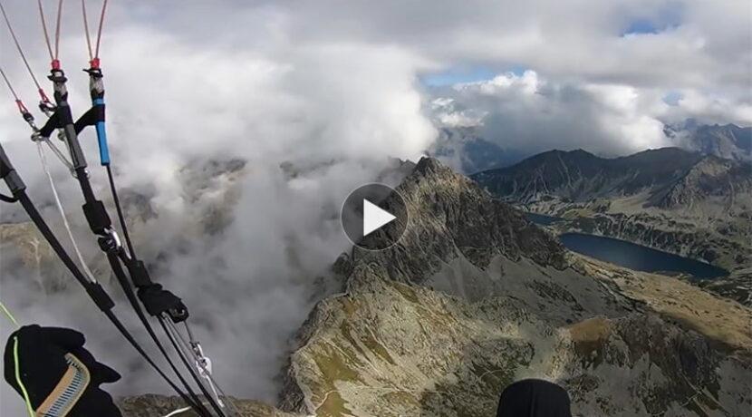 Przelot paralotnią nad Tatrami Wysokimi – to trzeba zobaczyć (FILM)