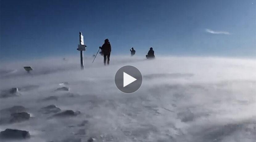 Wiało tak, że głowę chciało urwać! Potężny halny w Tatrach (FILM)