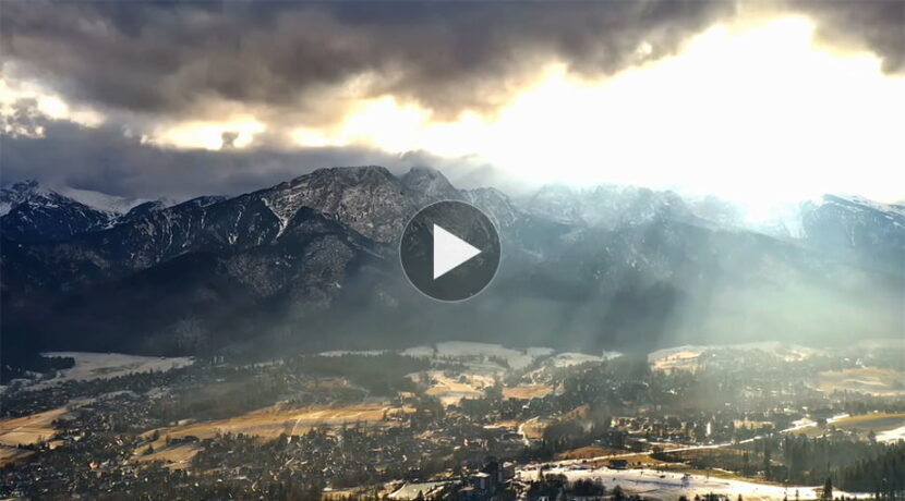 Halny i piękny spektakl światła nad Tatrami i Zakopanem (FILM)