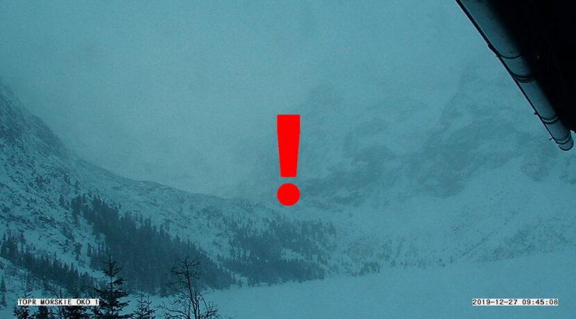 Uwaga na lawiny w Tatrach! Nie wychodźcie w zagrożone rejony
