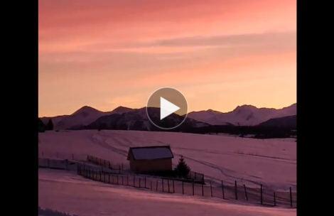 Niebo zapłonęło! Tak wyglądał dzisiejszy zachód słońca nad Tatrami (FILM)