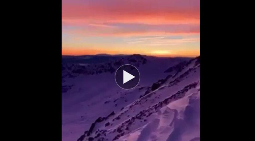 Róże i fiolety…Przepiękny zachód słońca podziwiany z Koziego Wierchu (FILM)