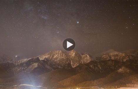 Droga Mleczna nad Giewontem. Niezwykły timelapse z…800 zdjęć (FILM)